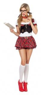 Schulmädchen Kostüm Damen sexy Uniform Schülerin Schule Damenkostüm Karneval KK - Vorschau