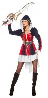 Ninja Samurai Assassin Kostüm Damen Kriegerin Kämpferin Ritter Damenkostüm KK