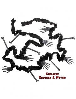 Halloween Girlande Skelett Knochen Grusel Dekoration KK Girlande KK