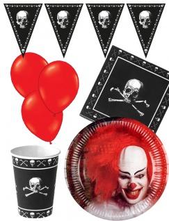 Halloween Party Deko Grusel Horror Clown Party Set KK