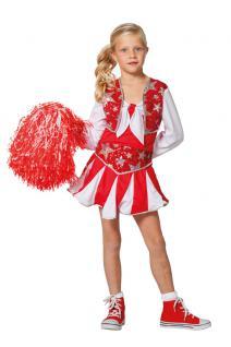 Karneval Klamotten Kostüm Cheerleader USA Sterne Mädchen Karneval Mädchenkostüm