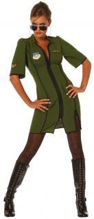 Pilotin Kostüm Pilot Kostüm Damen Sexy Pilot-Kleid Karneval Damen-Kostüm KK