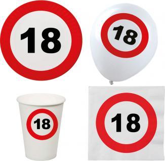 Party Set XL 44 Teile Geburtstag 18 Jahre Verkehrsschild - Vorschau