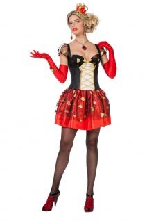 Herzkönigin Kostüm Damen sexy Alice im Wunderland Spielkarte-n Damen-Kostüm KK