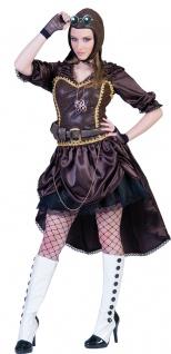 Steampunk Kostüm Damen Viktorianisches Kleid Gothic braun Vintage Fasching KK