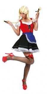 Oktoberfest Dirndl Kostüm Susi rot-schwarz-blau Trachten Dirndl Damenkostüm KK