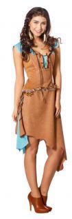 Indianer Kostüm Damen sexy Luxus Indianerin Kostüm braun türkis Damen-Kostüm