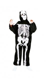 Skelett Kostüm Kinder Skelettkostüm Halloween Kinderkostüm KK