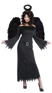 Schwarzer Engel Damen-Kostüm Halloween Todes Engel schwarz ohne Flügel KK - Vorschau