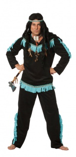 Indianerkostüm Herren Häuptling Apache Western Herrenkostüm Karneval Fasching KK