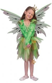 Waldfee Kostüm Kinder Fee-n Elfe-n Kostüm Mädchen Märchen Fasching Karneval KK