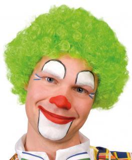 Karneval Klamotten Kostüm Perücke Clown Locken grün Zubehör Zirkus Karneval