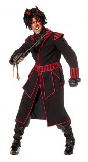 Teufel Kostüm Halloween Herren Teufels-Mantel Dämon Lucifer Fasching Karneval KK