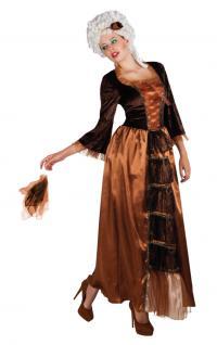 Barock Kleid Kostüm RokokoDamen-Kostüm braun-schwarz Renaissance Damenkostüm KK