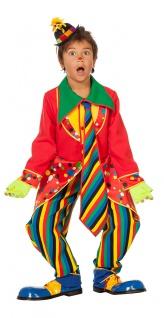 Clown-Kostüm Kinder Jungen Harlekin Clown-Mantel Hose bunt Kinderkostüm Karneval