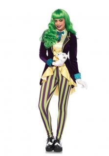 Kartenspieler-in Kostüm Joker Kostüm Damen Luxus Karneval Poker Damen-Kostüm KK