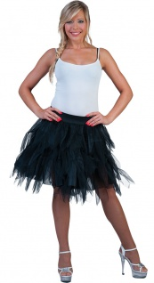 Petticoat Damen Tüllrock Petticoat als Rock Tütü schwarz weich Damen-Kostüm KK