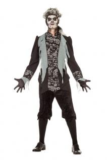 Zombie Kostüm Herren gruseliges Halloween Horrorkostüm Marquis Fasching KK