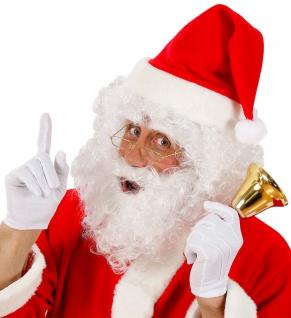 Weihnachtsmann Perücke Locken Nikolaus Bart Set Weihnachten Weihnachtsmütze KK