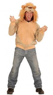 Kostüm Löwe Löwenkostüm Herren Löwe-Jacke Kapuze Lion Tierkostüm Herren-Kostüm K