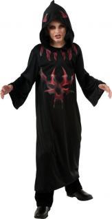 Teufel Kostüm Kinder Teufelskostüm Cape schwarz Umhang Kinderkostüm Halloween KK