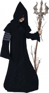 Hexenmeister Kostüm Kinder Halloween Horror Hexer Magier Zauberer Warlock KK