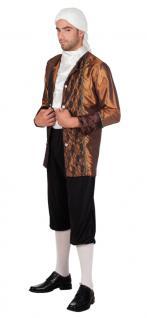 Barock Kostüm Herren Rokoko Herren-Kostüm Edelmann braun-schwarz KK