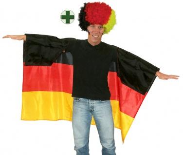 Fußball Fan : Perücke Locken Afro Deutschland Germany Umhang WM Frauen 2019 KK
