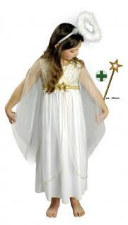 Engel Kostüm Kinder Engelkostüm Kinderkostüm Weihnachtskostüm Kleid mit Stab KK