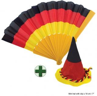 Fan Hut Deutschland Bavaria Fächer Deutschland EM WM Fußball schwarz rot gold KK