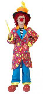 Kostüm Clown Kinder Junge bunt Sterne Clownkostüm Kinderkostüm Fasching KK