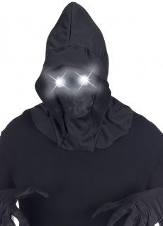 Sensenmann Henker Maske Kapuze unsichtbares Gesicht leuchtende Augen Halloween