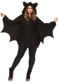 Karneval Klamotten Kostüm Fledermaus Dame Plus Size Luxus Karneval Halloween
