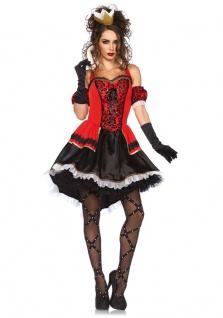 Herzkönigin Kostüm Damen sexy Luxus Alice im Wunderland Herz Damenkostüm KK
