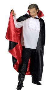Vampir Dracula Umhang Herren Kostüm Stehkragen Wendeumhang Halloween Fasching KK