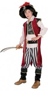 Piraten Kostüm Kinder Piratenkapitän Jungenkostüm Seeräuber Karneval Fasching KK