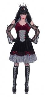 Barock Rokoko Kostüm Damen Gothic Kleid Bordeaux aus Samt Karneval Fasching KK