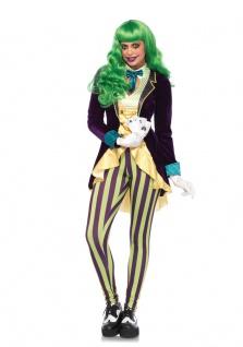 Kartenspieler-in Kostüm Damen Joker Karten Damenkostüm Luxus Karneval Fasching K