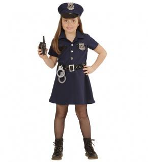 Polizistin Kostüm Kinder Polizist Mädchenkostüm Polizei Fasching Karneval KK