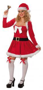 Weihnachtskleid Weihnachtskostüm Weihnachtsfrau sexy Kleid 2-tlg. Damen KK