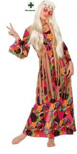 Hippie-Kleid Hippie-kostüm Flower Power 60er 70er Jahre Haarband Blumen Damen