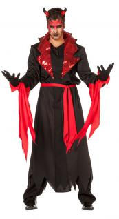 Teufel Kostüm Heren Satan Kostüm Männer Halloween-Kostüm Karneval Herren-Kostüm