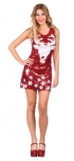 Weihnachtskostüm Rentier Pailletten Weihnachtskleid Damenkostüm Weihnachten KK