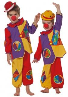 Clown Kostüm Baby Clown Kleinkinder Oberteil und Hose bunt Zirkus Fasching KK