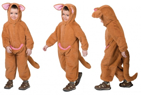 Känguru Kostüm Overall Kinder Beutel Tier Kinderkostüm Karneval Fasching KK