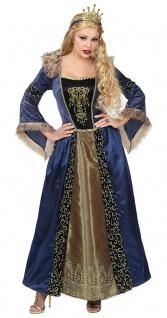 Burgfräulein Kostüm Damen blau Damenkostüm Mittelalterkostüm Karneval Fasching K