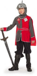 Ritter-Kostüm Kinder Junge Kreuzritter Mittelalter Kinderkostüm Karneval KK