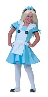 Alice im Wunderland Kostüm Kinder Mädchenkostüm Karneval Fasching KK
