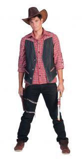 Kostüm Cowboy Herren Westernkostüm Cowboyhemd Western Hemd rot Karneval KK