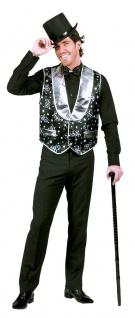 Schlager Disco Kostüm Herren Las Vegas Weste Poker-Kostüm KK